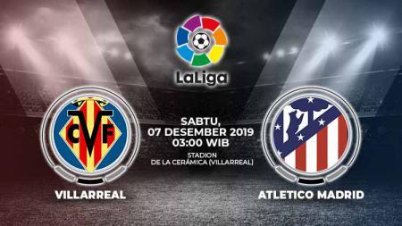 Villarreal akan menjamu Atletico Madrid dalam laga lanjutan LaLiga Spanyol pekan ke-16 yang akan digelar pada hari Sabtu (07/12/2019). - INDOSPORT