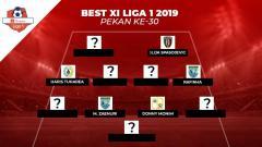Indosport - Best Starting XI Liga 1 2019 pekan ke-30.