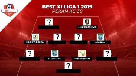 Best Starting XI Liga 1 2019 pekan ke-30. - INDOSPORT