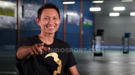 Pebulutangkis asal Indonesia, Sony Dwi Kuncoro memberikan dukungan kepada Tontowi Ahmad dengan membongkar perlakuan PBSI kepada atlet pelatnas. - INDOSPORT