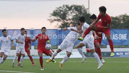 Laga antara Indonesia U-23 vs Laos U-23 SEA Games Filipina 2019, Kamis (05/12/19).