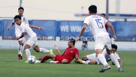 Laga antara Indonesia U-23 vs Laos U-23 SEA Games Filipina 2019, Kamis (05/12/19) berakhir dengan skor 4-0.
