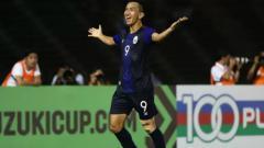 Indosport - Keo Sokpheng, 'Si Ronaldo Kamboja' yang siap menjadi mimpi buruk Vietnam di Semifinal SEA Games 2019.