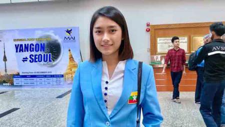 Pebulutangkis cantik Myanmar, Thet Htar Thuzar. - INDOSPORT