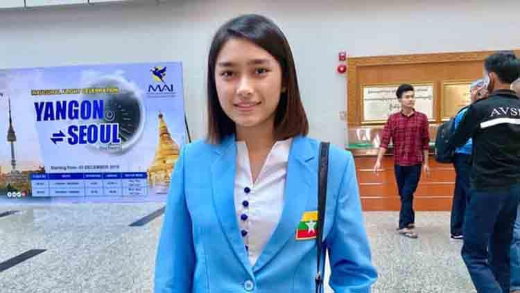 Pebulutangkis cantik Myanmar, Thet Htar Thuzar Copyright: Facebook/THET HTAR Thuzar