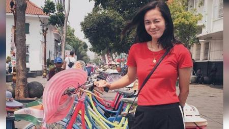 Gara-gara pernah berkunjung ke Indonesia, Agatha Chrystenzen Wong selaku atlet wushu cantik Filipina diharapkan bisa dinaturalisasi. - INDOSPORT