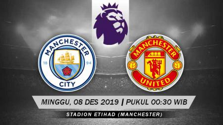 Pertandingan antara Manchester City vs Manchester United. - INDOSPORT