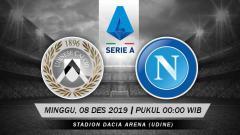 Indosport - Pertandingan antara Udinese vs Napoli.