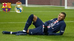 Indosport - Dua klub Liga Spanyol, Barcelona dan Real Madrid saling sikut demi Kylian Mbappe.