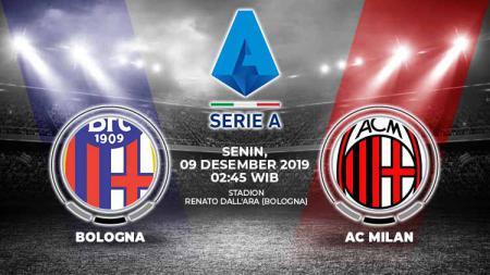AC Milan diprediksi bisa mengalahkan Bologna dalam laga pekan ke-15 Serie A Italia 2019/20 di Renato Dall'Ara, Senin (9/12/19), pukul 02.45 WIB. - INDOSPORT