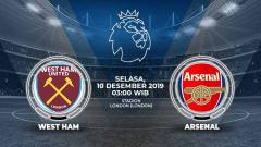 Indosport - Link Live Streaming Pertandingan Liga Inggris: West Ham vs Arsenal.
