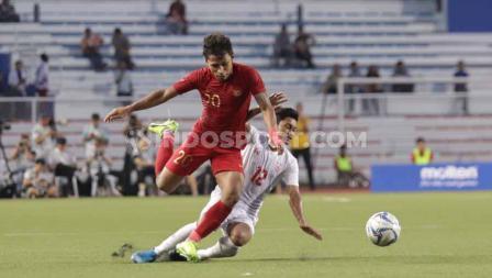 Osvaldo Haay menjadi salah satu pemain Timnas Indonesia U-23 yang kerap dijaga ketat pertahanan Myanmar sepanjang semifinal SEA Games 2019.