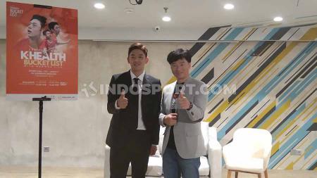 Pebulutangkis Korea Selatan, Lee Yong-dae menyambangi Jakarta untuk menyapa 350 fansnya di Jakarta. - INDOSPORT