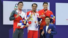 Indosport - I Gede Siman Sudartawa akhirnya berhasil sabet mendali emas renang pertama bagi kontingen Indonesia di ajang SEA Games 2019, dari nomor 50 meter gaya punggung putra.