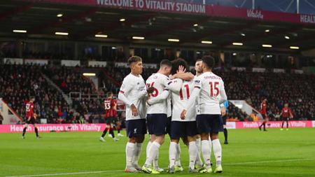Pelatih Liverpool, Jurgen Klopp, menyebut anak asuhnya seperti berpesta diruang ganti usai mencetak clean sheet pada laga Liga Inggris melawan Bournemouth. - INDOSPORT