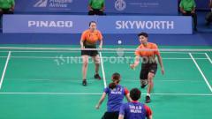 Indosport - Aksi Praveen/Melati di Semifinal SEA Games 2019.