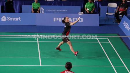 Berikut rekap hasil wakil Indonesia di babak semifinal  kategori individu bulutangkis SEA Games 2019, Minggu (8/12/19) di Muntinlupa Sports Center. - INDOSPORT