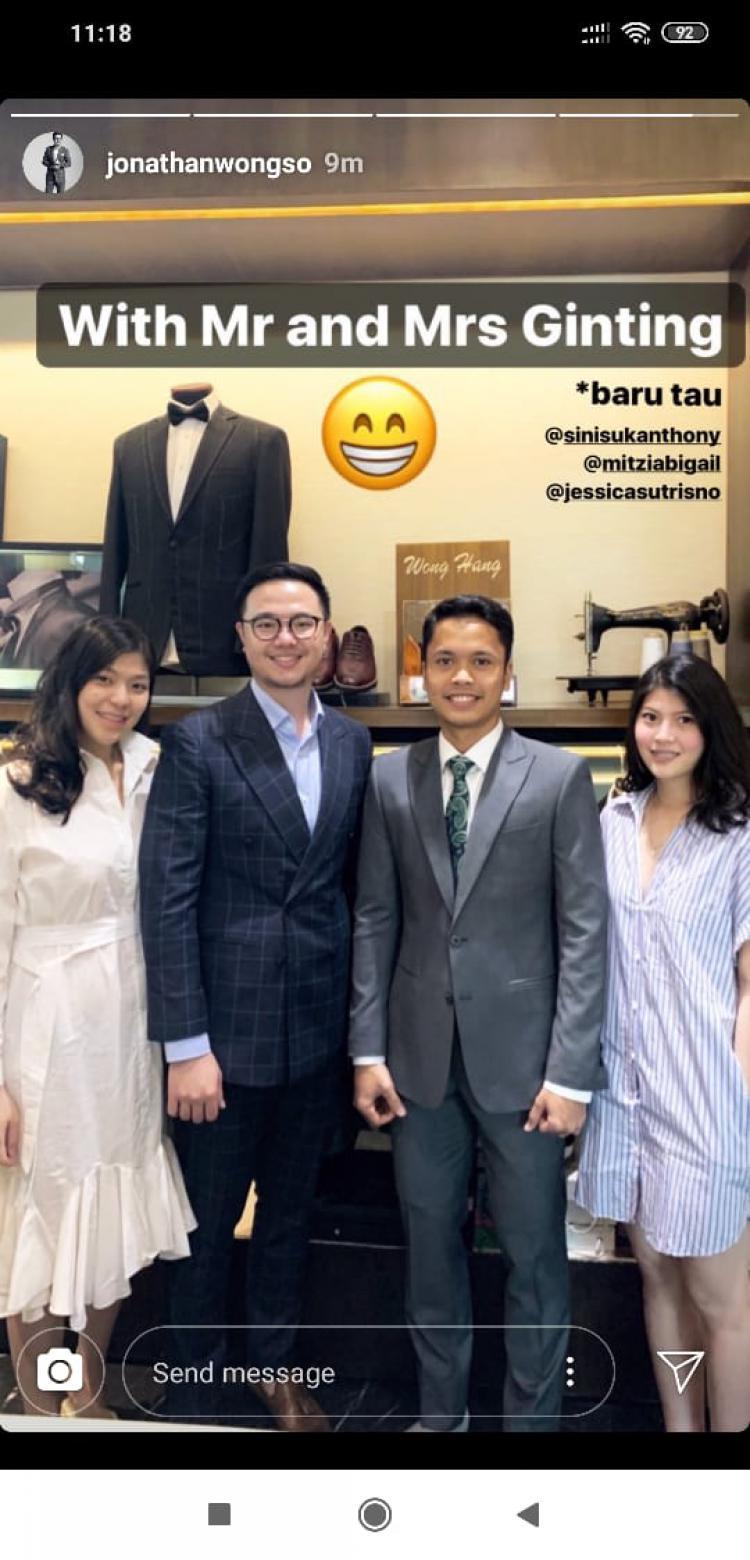 Desainer Kondang Beberkan Anthony Ginting Siap Persunting Mitzi Abigail? Copyright: instagram.com/jonathanwongso