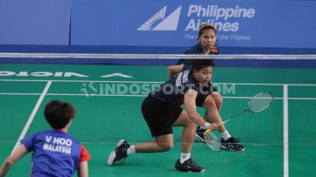 Ganda putri Indonesia, Greysia Polii/Apriyani Rahayu berhadapan dengan Vivian Hoo/Yap Cheng Wen asal Malaysia di semifinal SEA Games 2019. - INDOSPORT