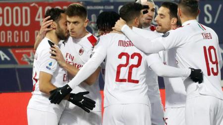 Hasil pertandingan Serie A Italia Bologna vs AC Milan memperlihatkan kembalinya ketajaman Krzysztof Piatek. - INDOSPORT