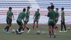 Latihan keras dijalani pemain Timnas Indonesia U-23 jelang partai final SEA Games 2019 kontra Vietnam.