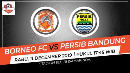 Berikut hasil pertandingan Shopee Liga 1 2019 dimana Borneo FC menjamu tamunya Persib Bandung di Stadion Segiri, Samarinda, Rabu (11/12/19) WIB - INDOSPORT