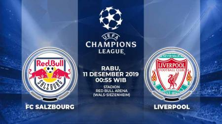 Matchday terakhir grup E Liga Champions 2019/20, Rabu (11/12/19), pukul 00.55 WIB, akan mempertandingkan Red Bull Salzburg melawan Liverpool di Red Bull Arena. - INDOSPORT