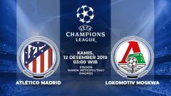 Indosport - Matchday terakhir grup D Liga Champions antara Atletico Madrid vs Lokomotiv Moskow, Kamis (12/12/19), 03.00 WIB, bisa disaksikan live streaming di Vidio.com.