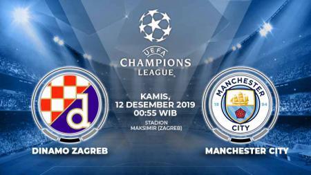 Berikut link live streaming laga Grup C Liga Champions antara tuan rumah Dinamo Zagreb vs Manchester City, Kamis (12/12/2019) dini hari nanti. - INDOSPORT