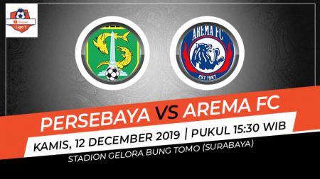 Pertandingan antara Persebaya Surabaya vs Arema FC pada pekan ke-32 Liga 1 2019. - INDOSPORT