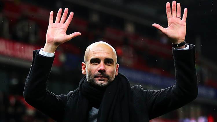 Pep Guardiola, pelatih klub Liga Inggris, Manchester City. Copyright: Chris Brunskill/GettyImages