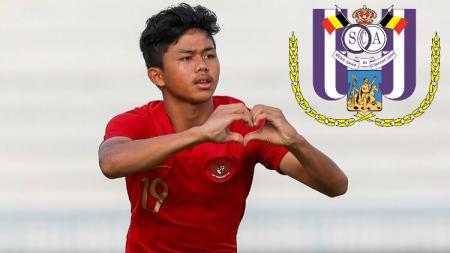 Pemain bintang Timnas Indonesia U-16 Athallah Araihan meraik perhatian klub raksasa Belgia, Anderlecht. - INDOSPORT