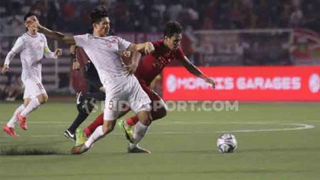 Pertandingan Timnas Indonesia U-23 vs Vietnam di SEA Games 2019.