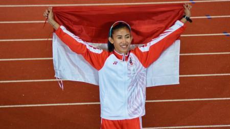 Atlet putri Indonesia, Emilia Nova yang merupakan spesialis di nomor lari gawang, ternyata punya ritual khusus sebelum mengikuti lomba. - INDOSPORT