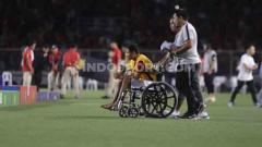 Indosport - Doan Van Hau, pemain Vietnam U-23 yang telah sengaja mencederai gelandang Timnas Indonesia U-23, Evan Dimas, di final SEA Games 2019.
