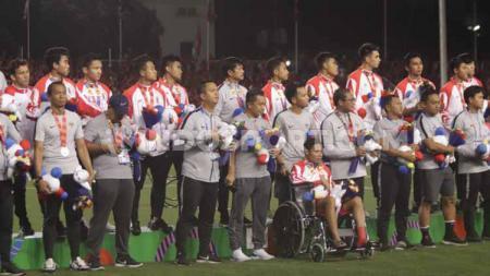 Timnas Indonesia U-23 yang harus puas mendapatkan medali perak di SEA Games 2019. - INDOSPORT