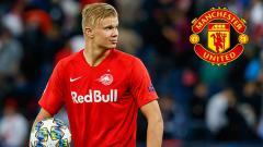 Indosport - Erling Haaland mengajukan syarat ke klub Liga Inggris, Manchester United, yang tengah meminatinya.