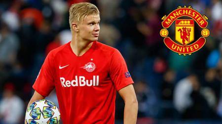Wonderkid Red Bull Salzburg, Erling Haaland, kabarnya akan segera bergabung dengan Manchester United bulan Januari 2020 mendatang. - INDOSPORT