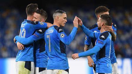 Berikut adalah susunan pemain pertandingan Coppa Italia antara Napoli vs Lazio. - INDOSPORT