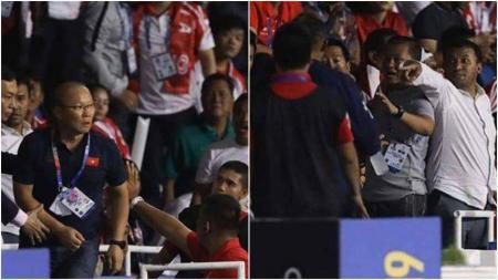 Pelatih Vietnam, Park Hang-seo, diketahui bersitegang dengan wasit di lorong Stadion Rizal, Memorial, saat berhadapan dengan Timnas Indonesia U-23 di final SEA Games 2019. - INDOSPORT
