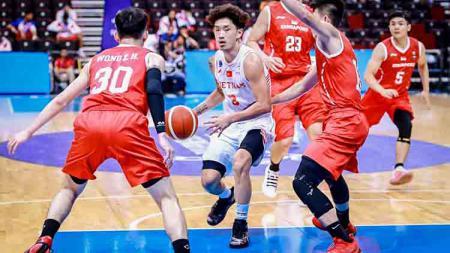 Timnas Basket Vietnam di SEA Games 2019. - INDOSPORT