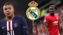 Indosport - Kylian Mbappe (kiri) dan Paul Pogba semakin dekat ke klub Liga Spanyol, Real Madrid