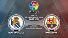 Indosport - Berikut prediksi pertandingan antara Real Sociedad vs Barcelona dalam lanjutan LaLiga Spanyol di Stadion Anoeta, Sabtu (14/12/19) WIB