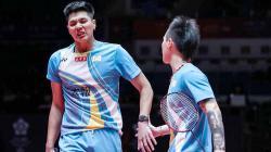 Ganda putra bulutangkis asal Taiwan, Lu Ching Yao curhat di instagram karena mengaku apes ketemu Indonesia di babak awal Denmark Open 2021