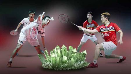 Media Vietnam sebut kekalahan pasangan Kevin Sanjaya/Marcus Gideon dikarenakan pasangan Jepang menggunakan strategi ini di final All England 2020. - INDOSPORT