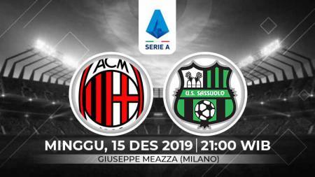 AC Milan diprediksi bakal menemui hadangan yang cukup berat untuk bisa meraih tiga poin kala menjamu Sassuolo di pekan ke-16 Serie A Italia, Minggu (15/12/19). - INDOSPORT