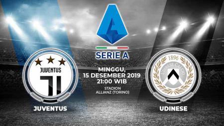 Prediksi pertandingan pekan ke-16 kompetisi sepak bola Serie A Liga Italia 2019-2020 antara Juventus vs Udinese di Stadion Allianz, Minggu (15/12/19). - INDOSPORT