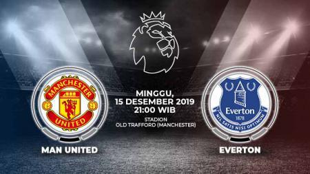 Prediksi pertandingan pekan ke-17 kompetisi sepak bola Liga Inggris 2019-2020 antara Manchester United vs Everton, Minggu (15/12/19). - INDOSPORT
