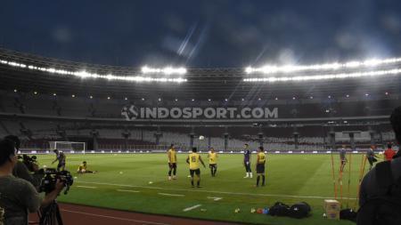 Official training Persija Jakarta jelang laga Liga 1 melawan Madura United di Stadion GBK, Jakarta, Kamis (12/12/19). - INDOSPORT