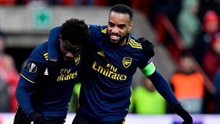 Bukayo Saka mendapat pujian setinggi langit dari Mikel Arteta usai menampilkan performa cemerlang bareng Arsenal di Liga Europa. - INDOSPORT